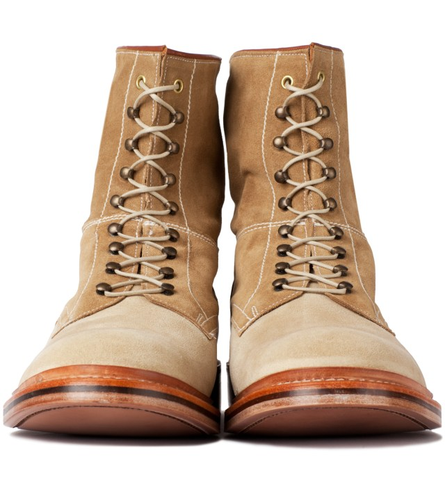 GARBSTORE Garbstore x Grenson Tan High Leg Leather Sole Boot