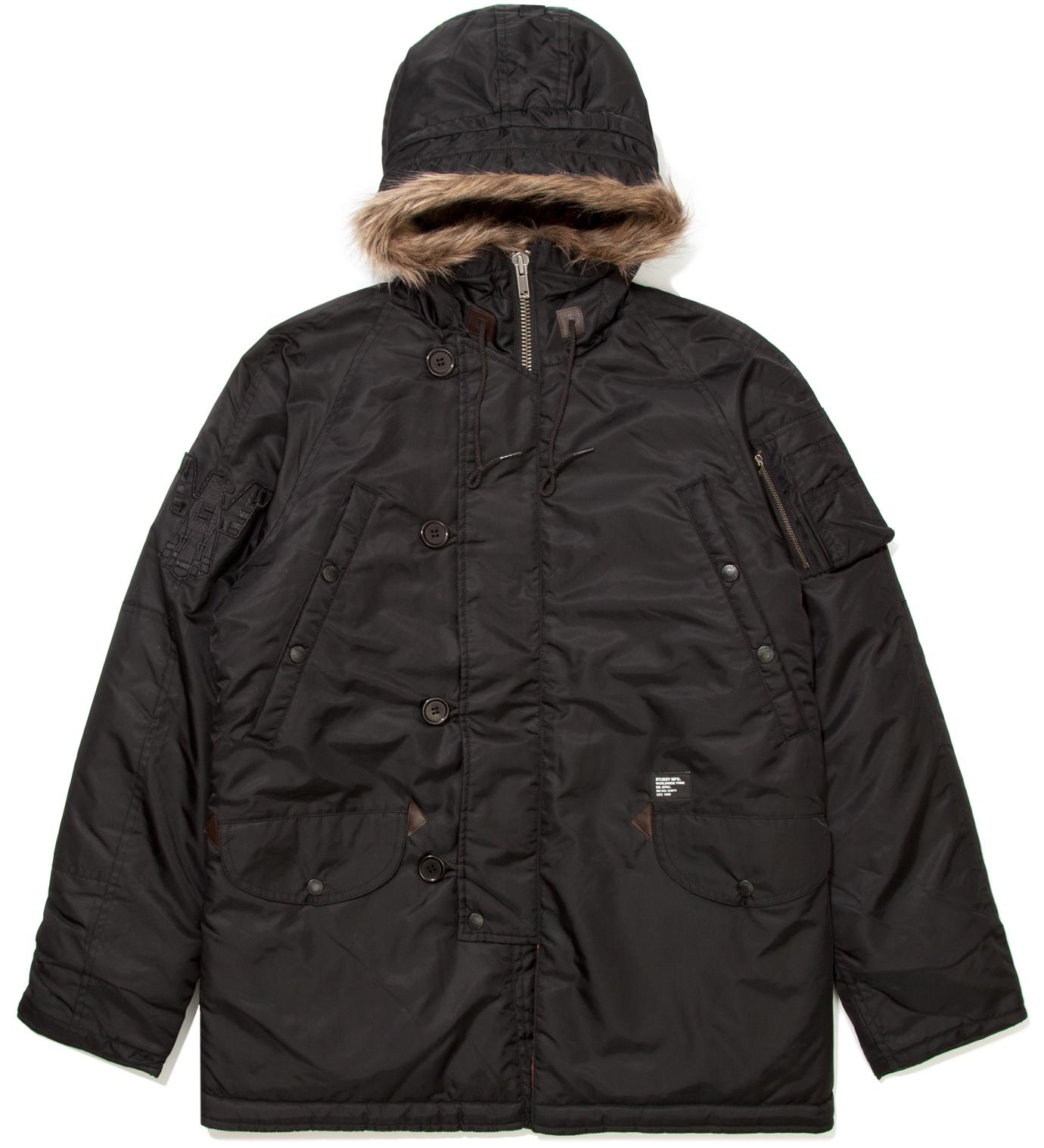 Stussy Black Snorkel Jacket