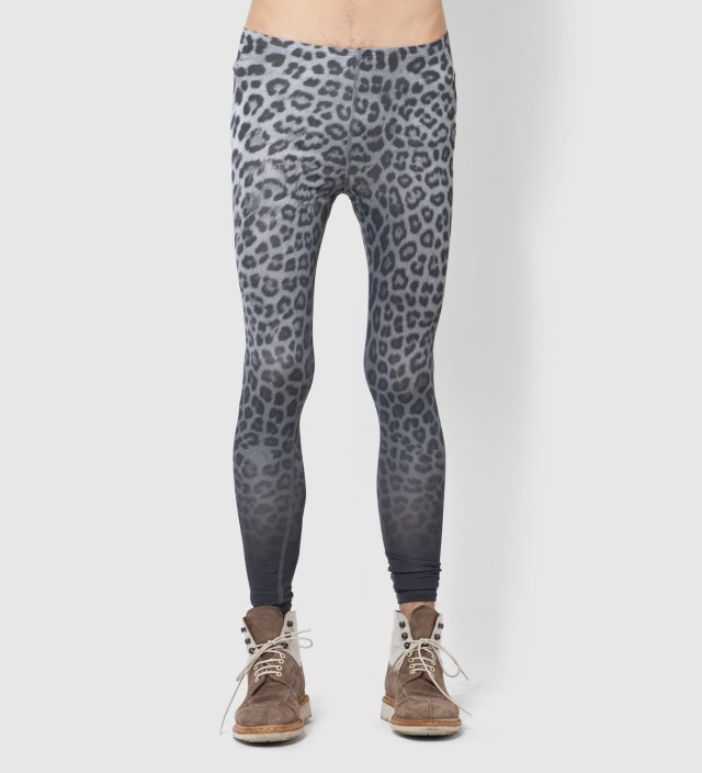 FACETASM Gray Leopard Leggings