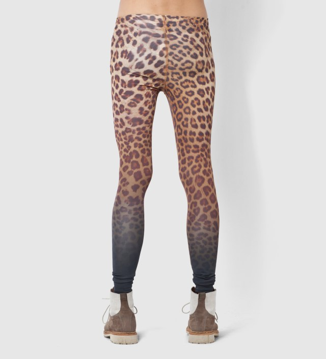 FACETASM Yellow Leopard Leggings