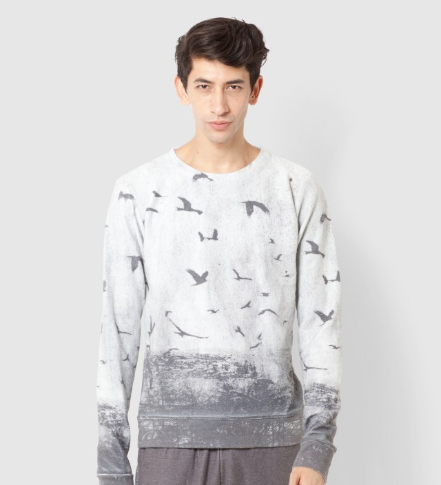 Tourne de Transmission White Blackbird Sweater