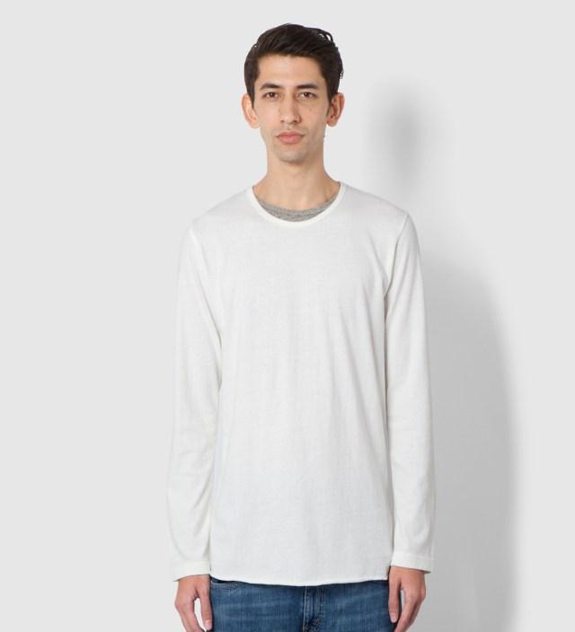 UNUSED White Long Sleeve T-Shirt