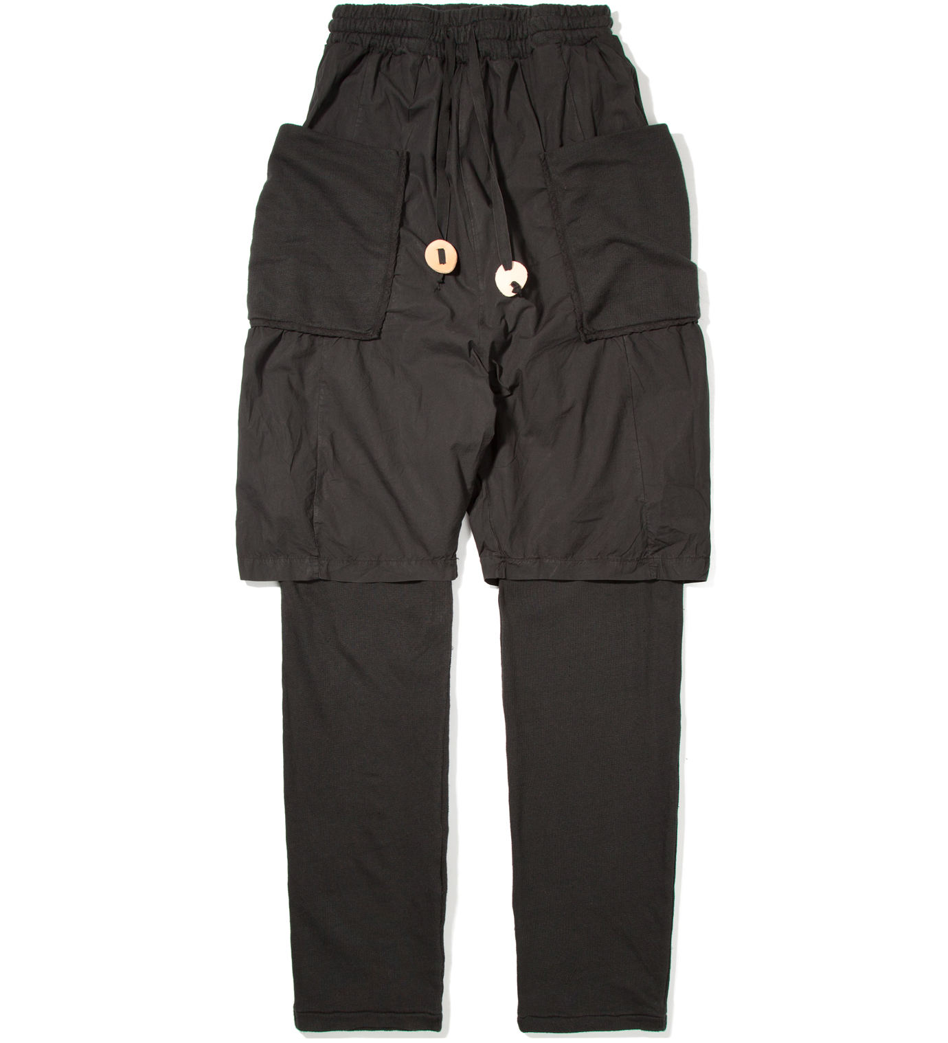 SILENT DAMIR DOMA Black Pelly Double Layered Sweatpant