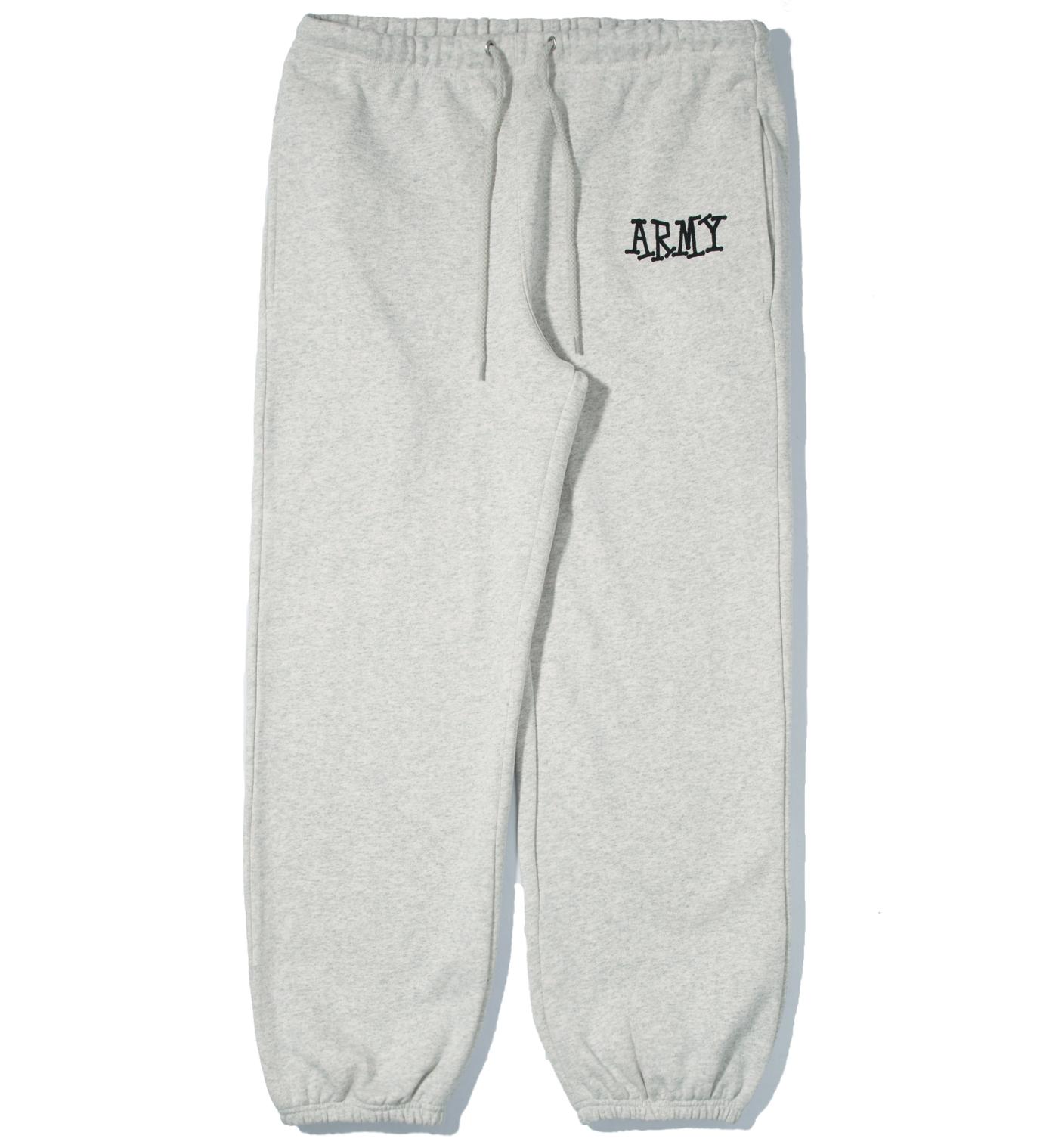 Stussy Heather Grey Army Sweatpants