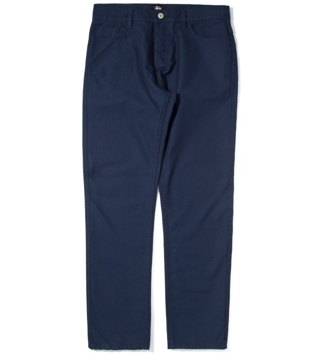 Stussy Navy Reverse Twill 5 Pocket Pants