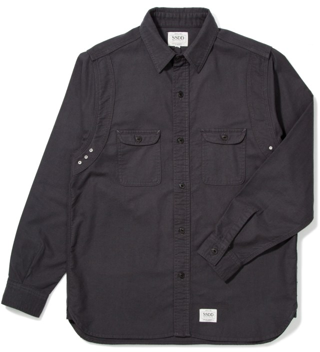 FUCT SSDD Charcoal Grey SSDD Round York Flannel Shirt