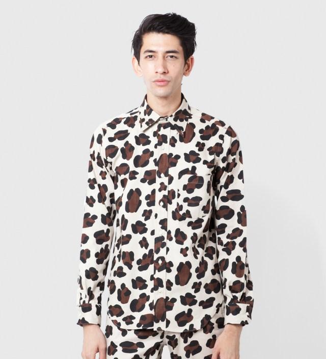 Mark McNairy Leopard LS BD Shirt