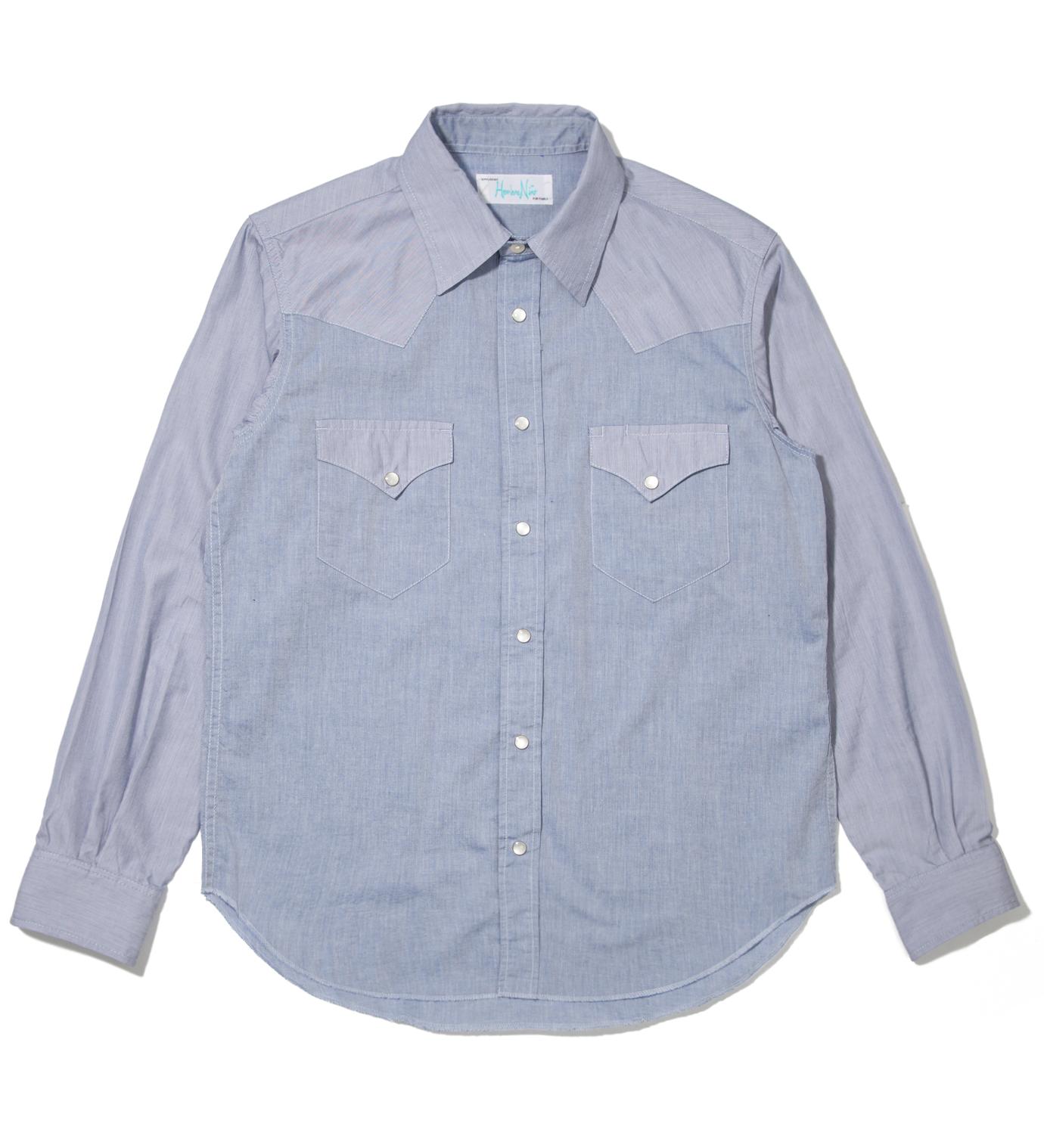 Hombre Nino Blue Western Shirt