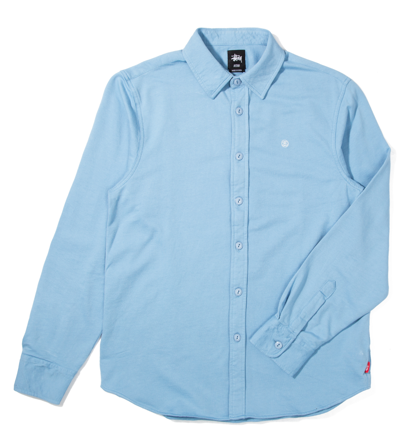 Stussy Blue Fleece Button Up Shirt