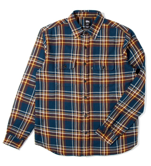 Stussy Navy Coronado Plaid Shirt