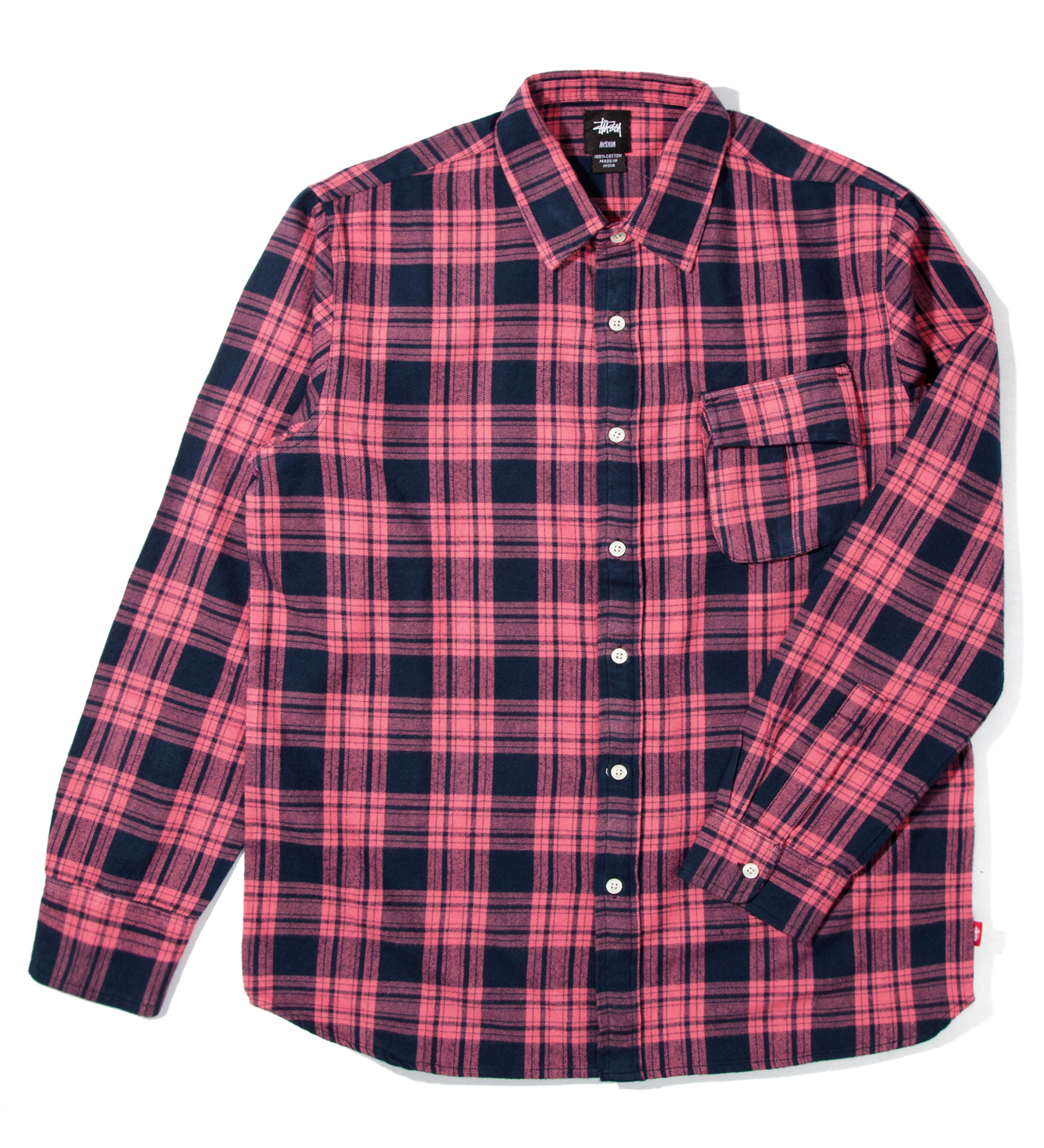 Stussy Red Color Flannel Shirt