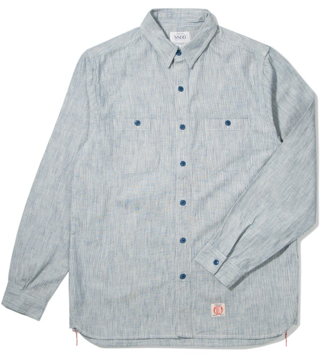 FUCT SSDD Blue SSDD Stripe Hickory Shirt