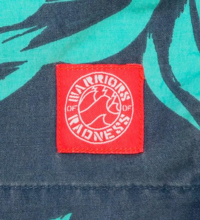 Warriors of Radness Heron Blue Foliage Shorts