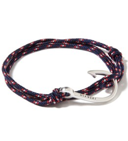 Miansai Silver Hook on Navy Blue Rope Bracelet Picture