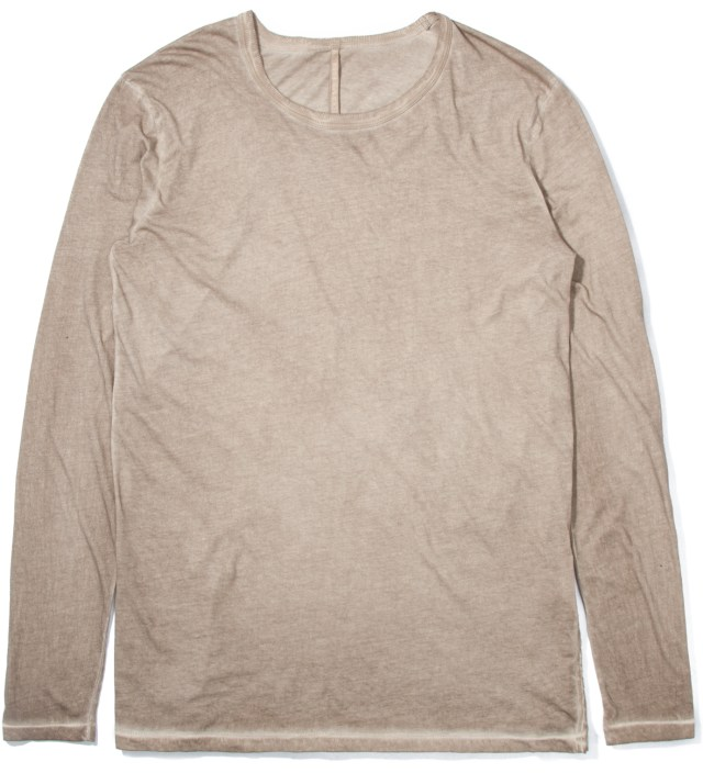 SILENT DAMIR DOMA Light Brown Tanta Basic Long Sleeve T-Shirt