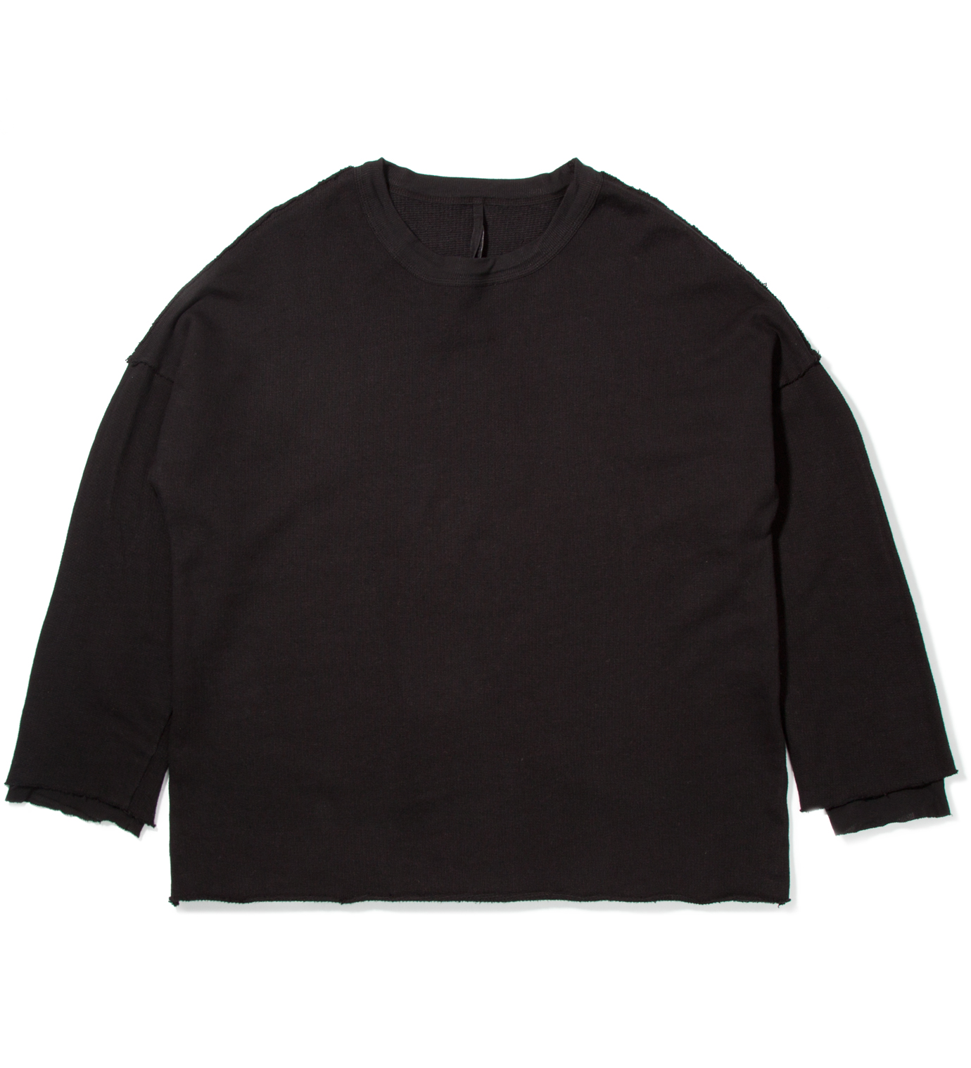 SILENT DAMIR DOMA Black Tian Cropped Sweater