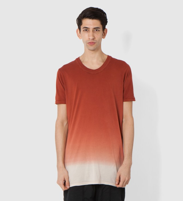 SILENT DAMIR DOMA Rust Toba Oval Neck T-Shirt