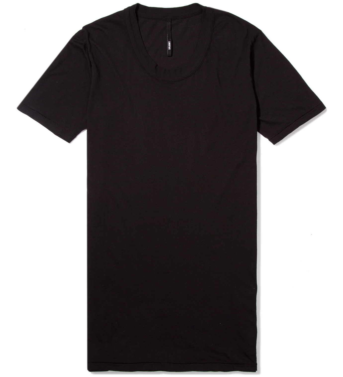 SILENT DAMIR DOMA Black Toba Oval Neck T-Shirt