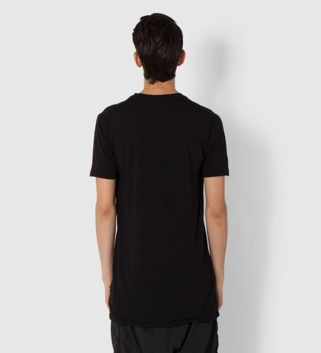 SILENT DAMIR DOMA Black Toba Oval Neck T-Shirt