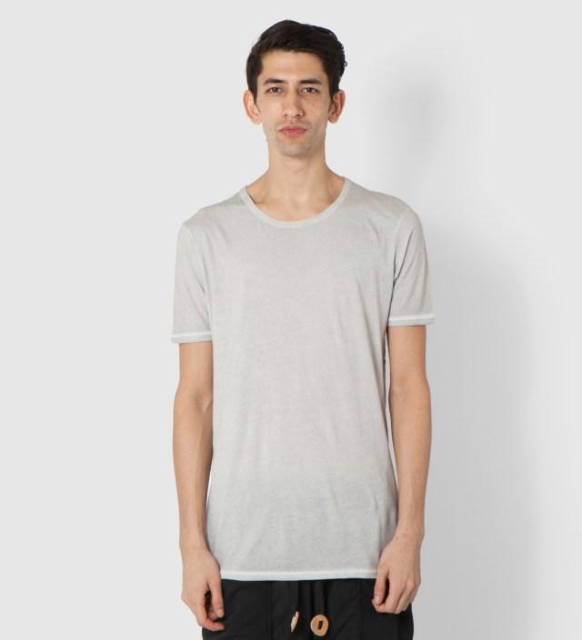 SILENT DAMIR DOMA Light Grey Toten Basic T-Shirt