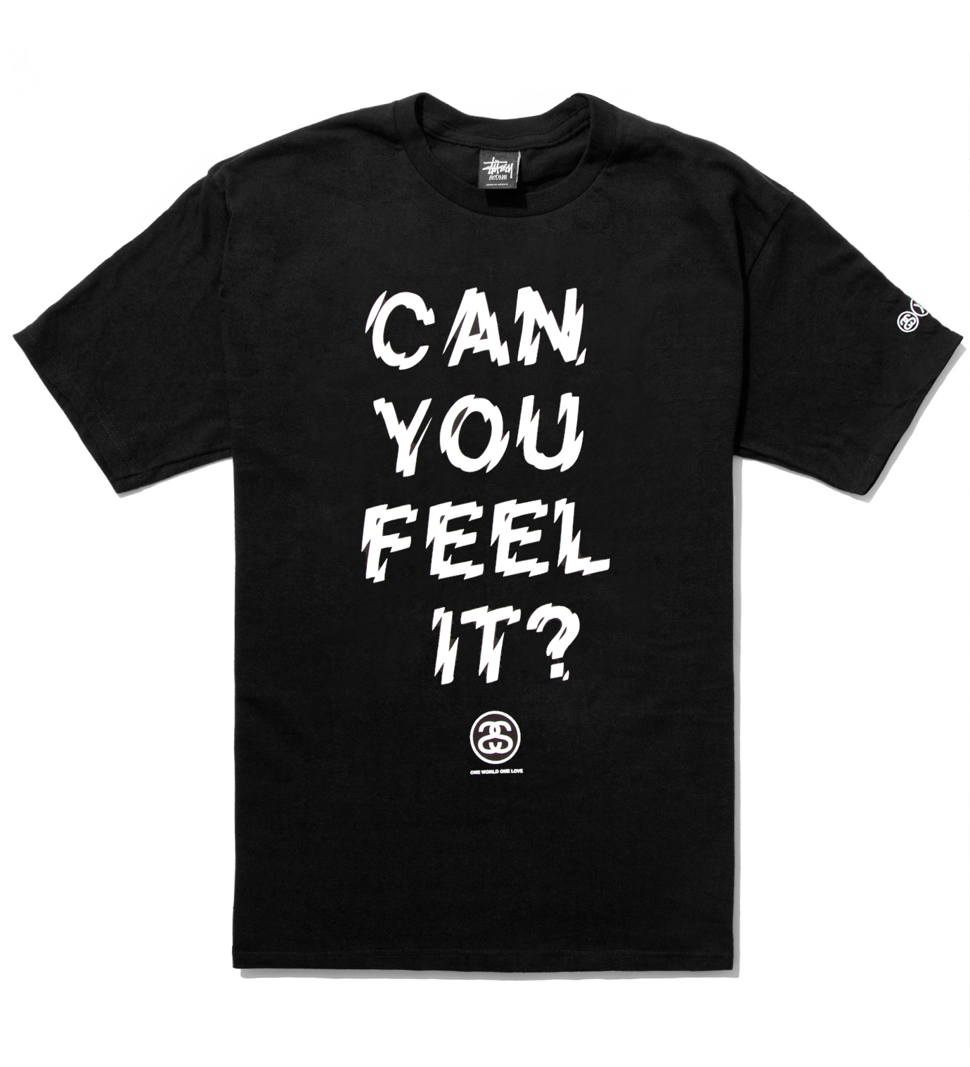Stussy Black Can You Feel It? T-Shirt