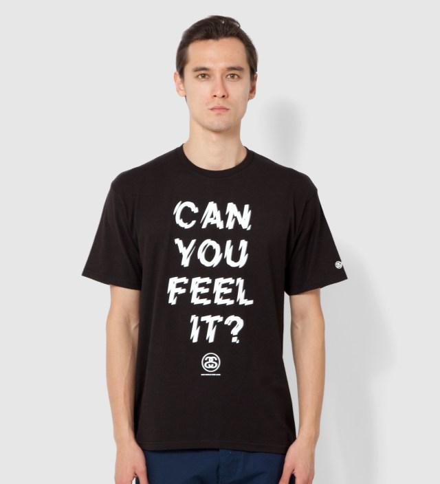 Stussy Black Can You Feel It? T-Shirt