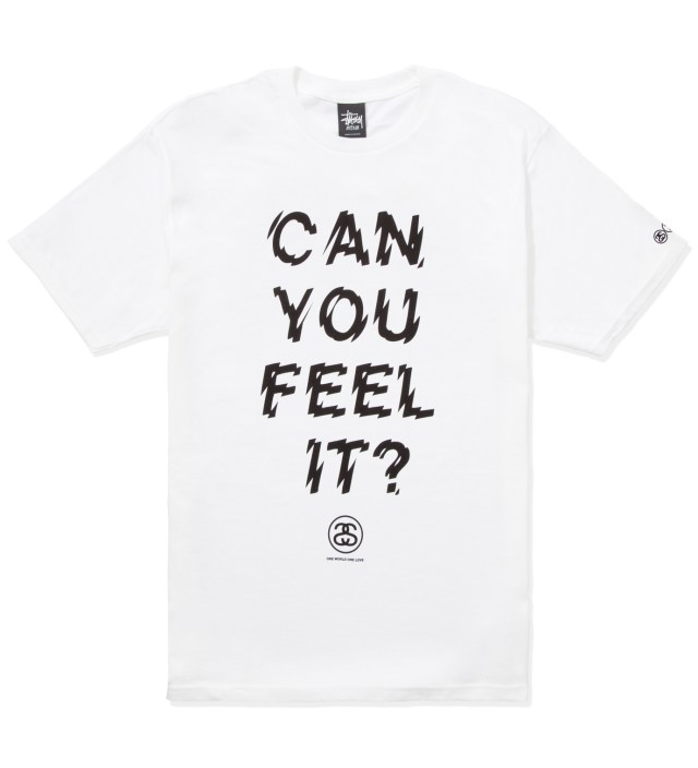 Stussy White Can You Feel It? T-Shirt