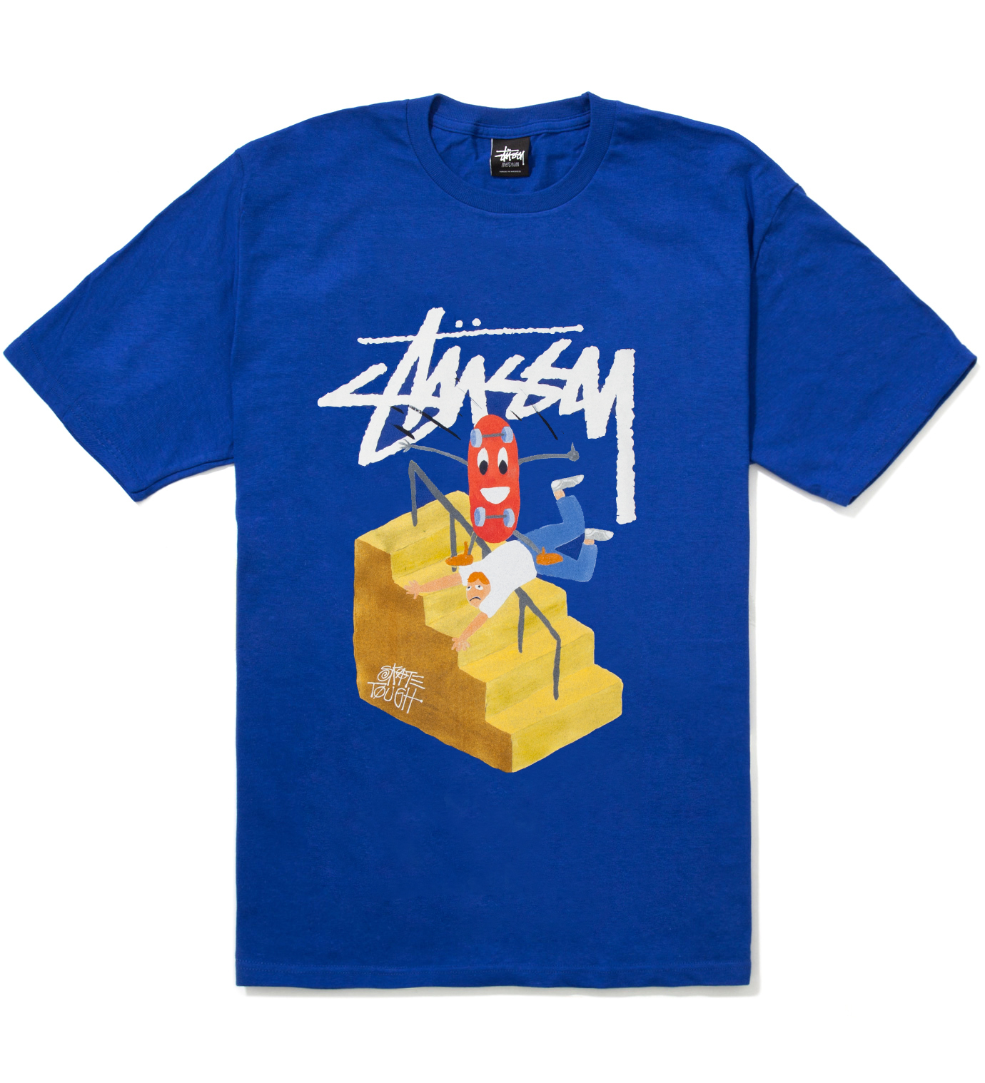 Stussy Royal Blue Handrail T-Shirt