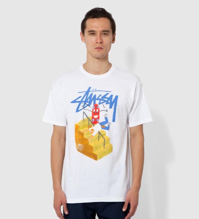 Stussy White Handrail T-Shirt