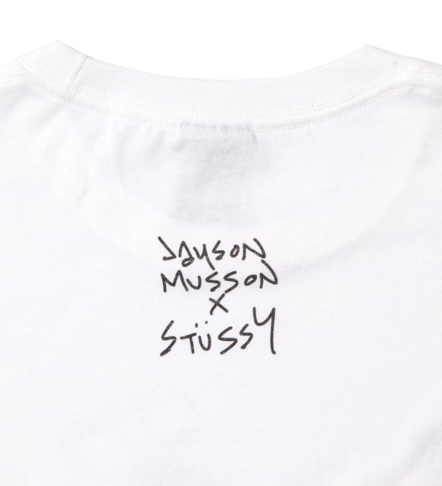 Stussy White Skateboard Stack T-Shirt