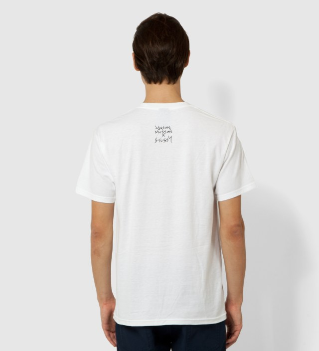 Stussy White Skateboard Stack T-Shirt