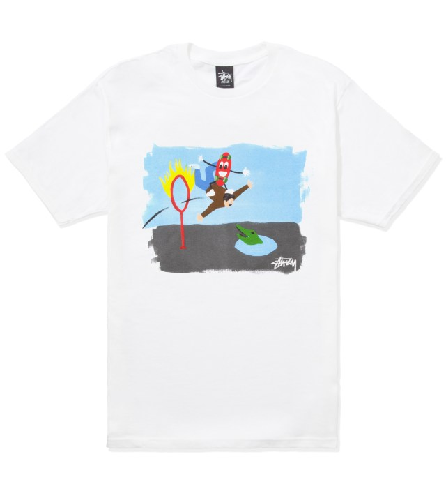 Stussy White Ring of Fire T-Shirt