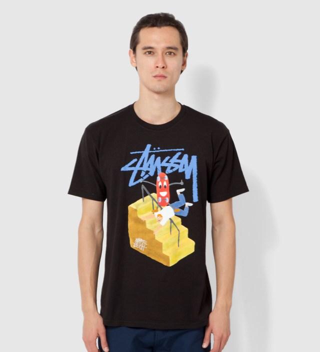 Stussy Black Handrail T-Shirt