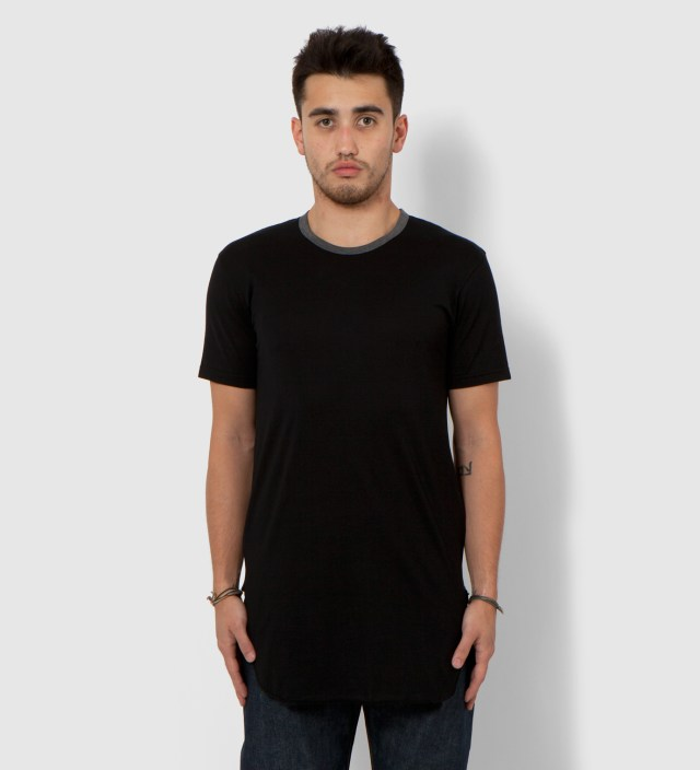 CASH CA Cash Ca x Sunspel Black Long Inner Short Sleeve T-Shirt