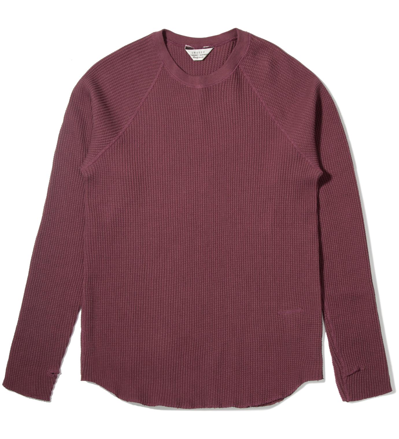 UNUSED Burgundy Thermal Long Sleeve T-Shirt