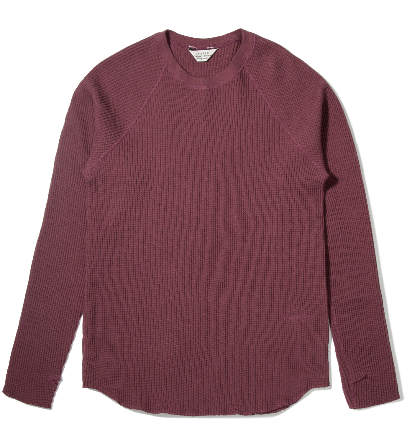 UNUSED Burgundy Thermal Long Sleeve T-Shirt