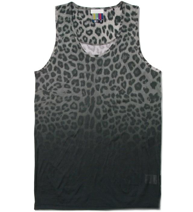 Facetasm Gray Leopard Tank top