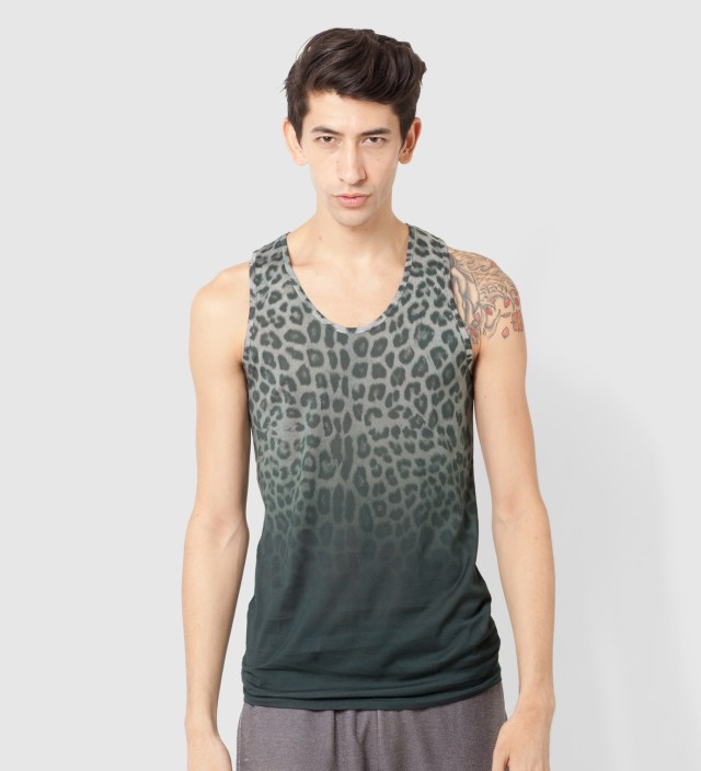 FACETASM Gray Leopard Tank top