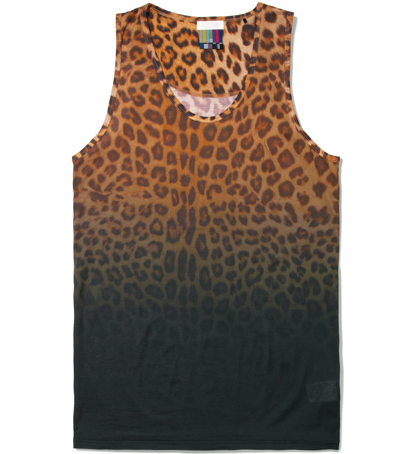 FACETASM Yellow Leopard Tank Top