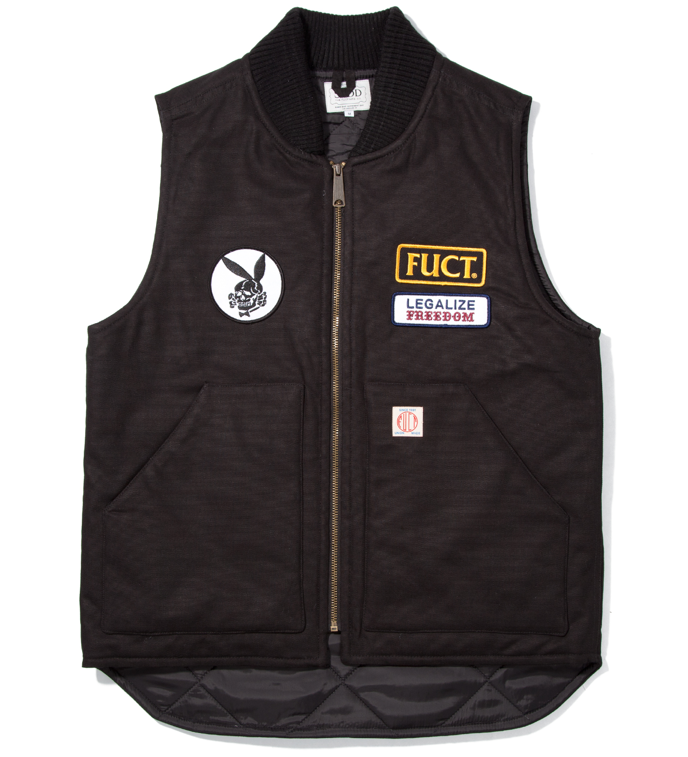 FUCT SSDD Black SSDD Legalize Freedom Vest