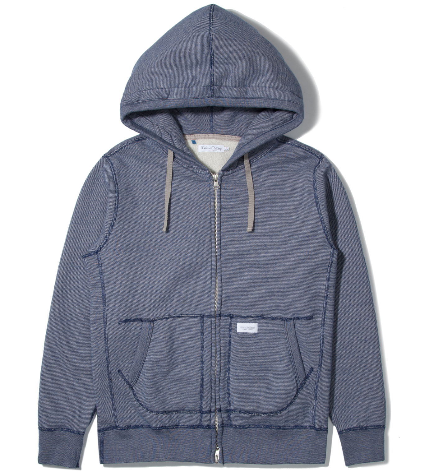 DELUXE Blue Workaday Zip Hoodie