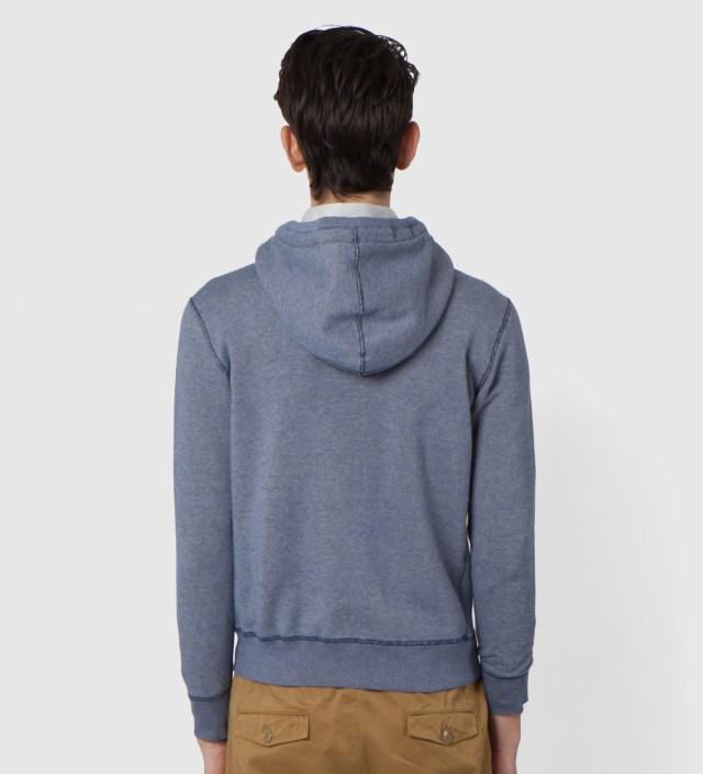 DELUXE Blue Workaday Zip Hoodie