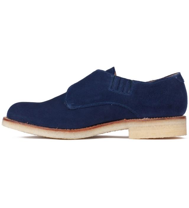 GARBSTORE Garbstore x Grenson Navy Mushroom Monk Shoe
