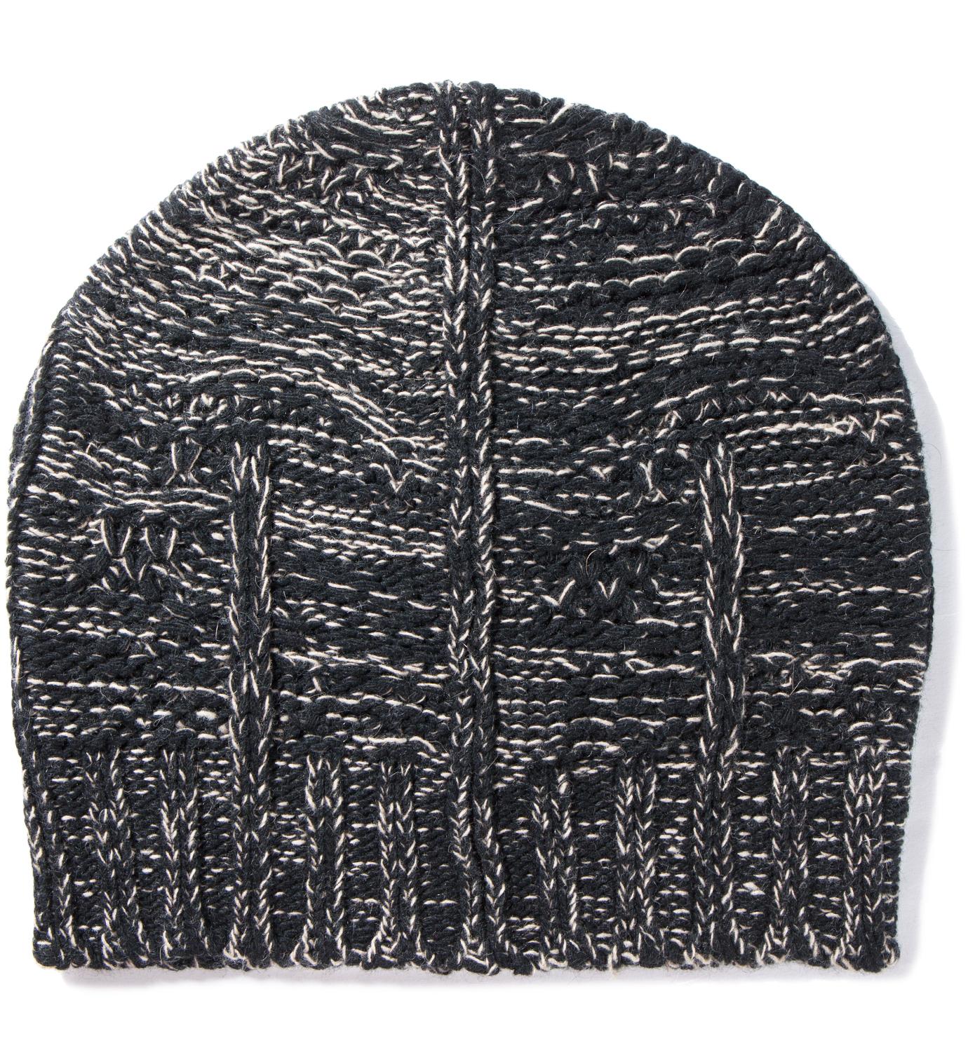 SILENT DAMIR DOMA Black/Beige Kali Knit Beanie