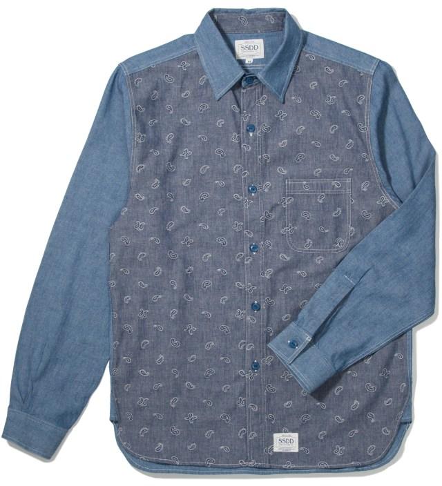 FUCT SSDD Blue SSDD Paisley Chambray Shirt