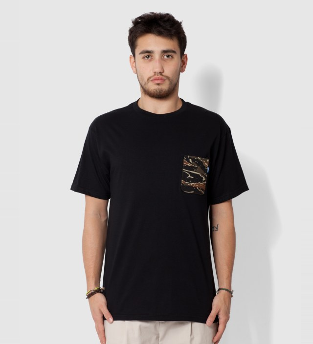 Tantum Black Asian Tiger Stripe Camo T- Shirt
