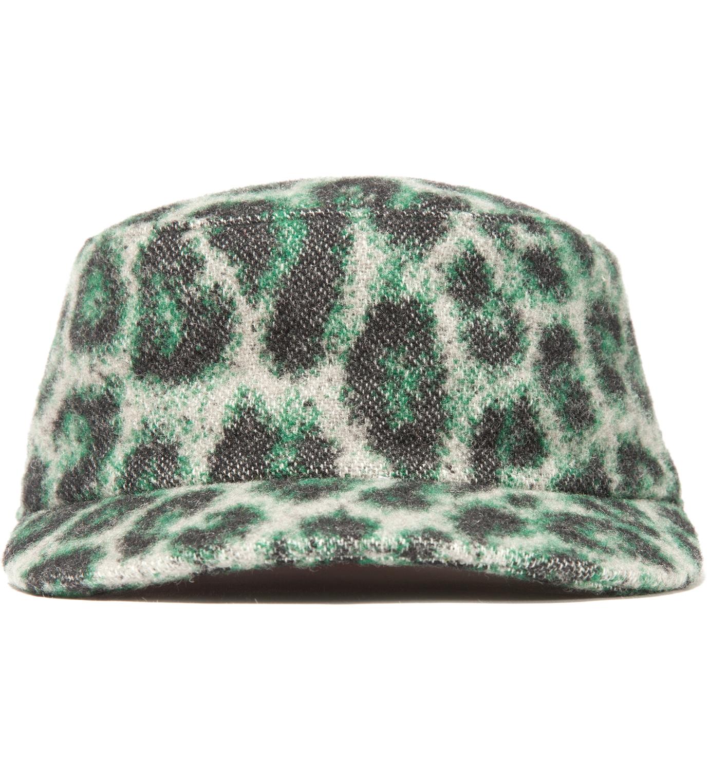 Facetasm Green Leopard Work Cap