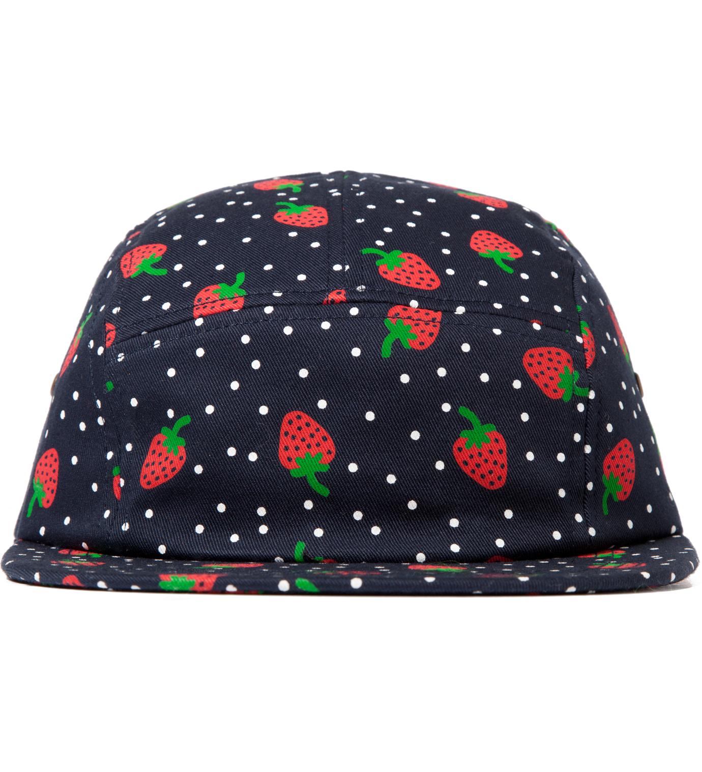 ONLY NY Navy Strawberry 5 Panel Cap