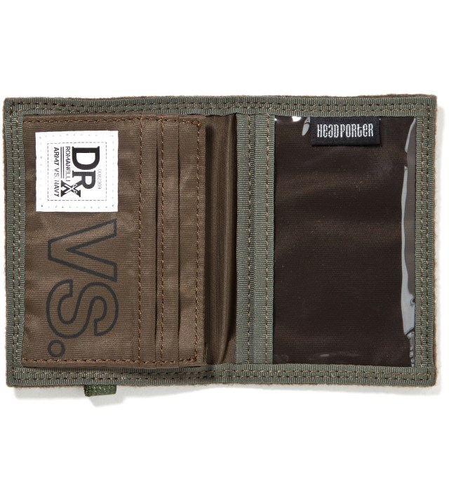Head Porter Head Porter x Dr. Romanelli Military Green Wool Wallet