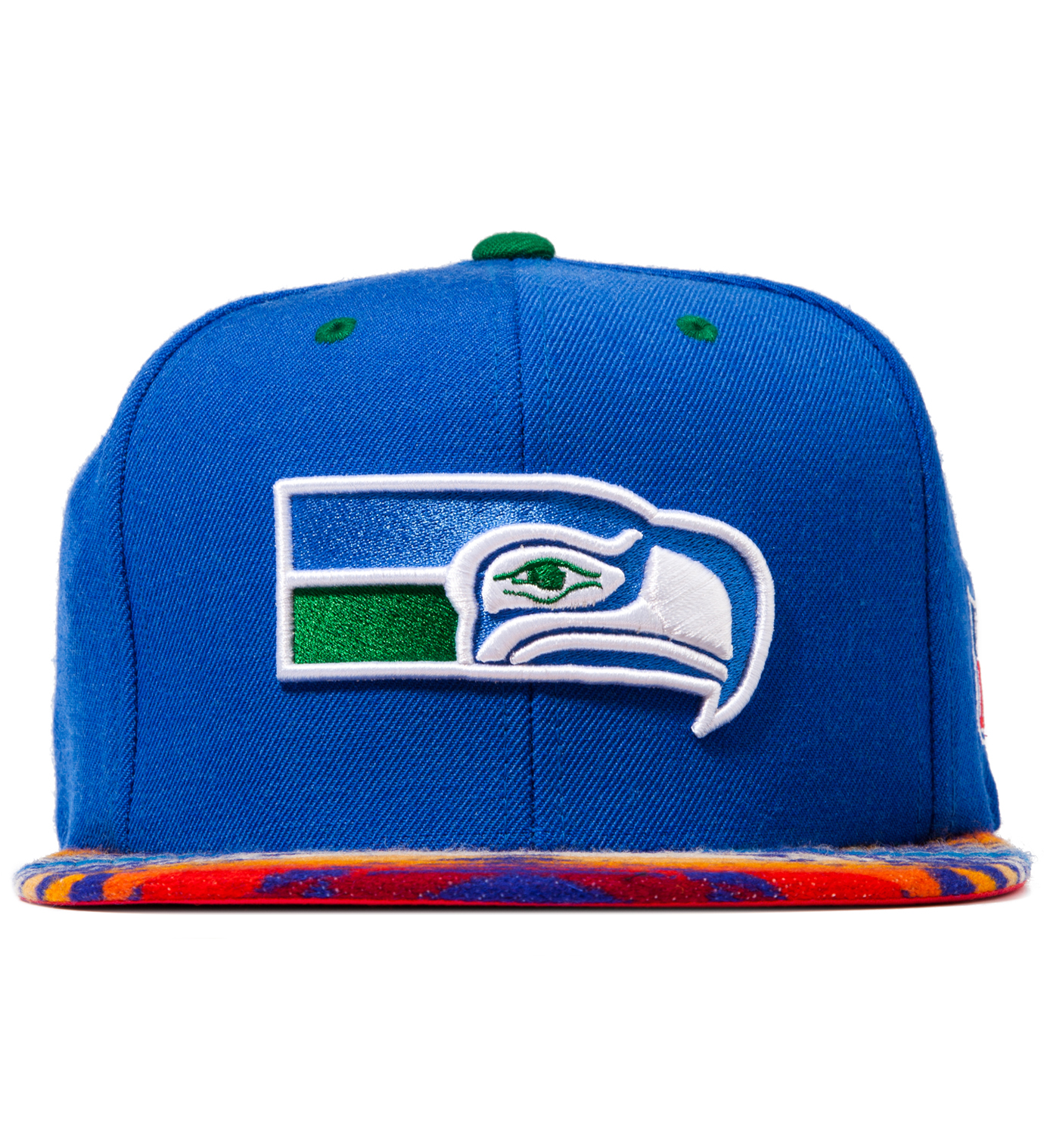 The Genesis Project Seattle Seahawks Blue Navajo Strap-Back Cap